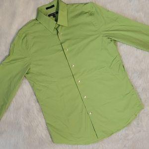 EXPRESS1MX Spring Green Button Down Shirt